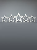 Five silver stars copy space Stock Photos