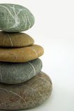 Five similar zen stones, cut on the left Royalty Free Stock Photography