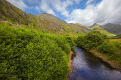 Five Sisters of Kintail from Shiel Bridge royalty free stock images