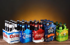 Free Five Six Packs Of Domestic Beer Stock Images - 41582094