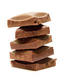 Five slices of chocolate Royalty Free Stock Photo