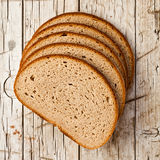 Five slices of rye bread Royalty Free Stock Photography