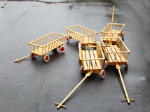 Five small carts Royalty Free Stock Photos