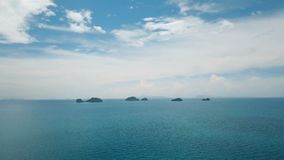 Five Small Rocky Islands in the Sea. Aerial View. Shot with a DJI Mavic fps29,97 4k stock video