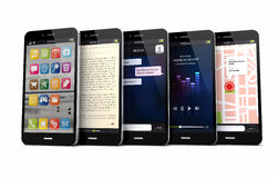 Five smart phones Stock Photos