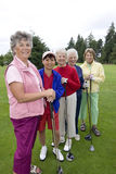 Five Smiling Golfers Royalty Free Stock Photos