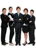 Five smiling students Royalty Free Stock Images
