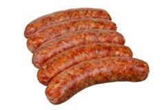 Five Smoked Sausage Royalty Free Stock Photography