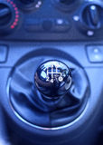 Five speed gear stick. Royalty Free Stock Image