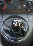 Five speed gear stick. Stock Photos