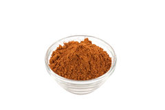 Five spice powder in glass bowl royalty free stock photos