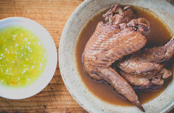 Five spice stew Chicken wings Stock Photos