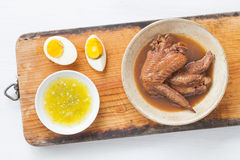 Five spice stew Chicken wings Stock Photo
