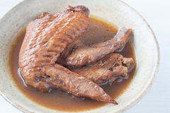 Five spice stew Chicken wings Stock Images