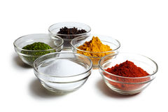 Five spices Royalty Free Stock Photos