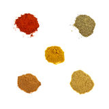 Five spices Stock Photos