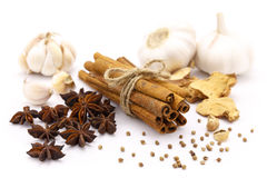 Five Spices. On the white background Stock Images