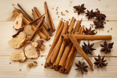 Five Spices Stock Photo