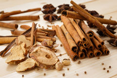 Five Spices. On the wood table Stock Image