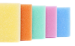 Five sponges Stock Images
