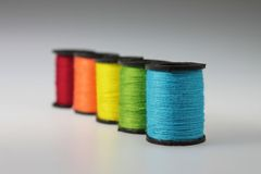 Five Spools of Yarn Royalty Free Stock Images