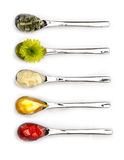 Five spoons Royalty Free Stock Photography