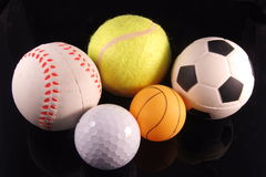 Five sports. Five most popular sports in the world Royalty Free Stock Image