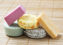 Five stacked soaps Royalty Free Stock Image