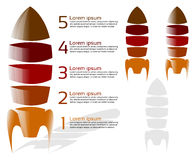 Five stage rocket infographic Stock Image
