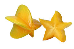 Five star. A juicy yellow five star fruit Stock Images