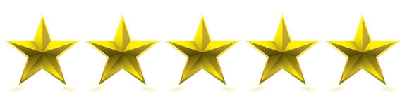 Five star award Royalty Free Stock Photography