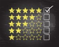Five Star Blackboard Tick Royalty Free Stock Photo