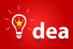Five Star Brilliant Idea For Success In Business. Vector Illustration royalty free illustration