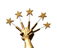 Five Star Handle Royalty Free Stock Photo