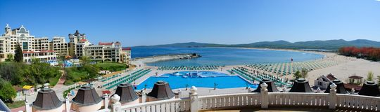 Five star hotel front panoramic view Stock Photo