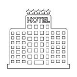 Five Star Hotel Icon. An images of Five Star Hotel Icon Royalty Free Stock Image