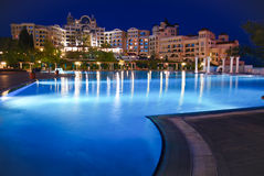 Five star hotel at night Royalty Free Stock Image