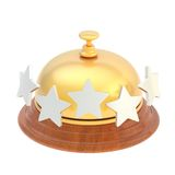 Five star hotel's reception bell Royalty Free Stock Photography