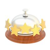 Five star hotel's reception bell Royalty Free Stock Photos