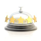 Five star hotel's reception bell Stock Photography