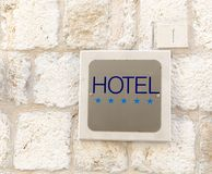 Five star hotel sign Stock Photography