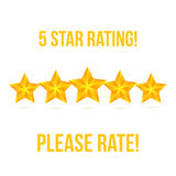 Five Star isolated on white background. Rating Stars Vector Royalty Free Stock Images