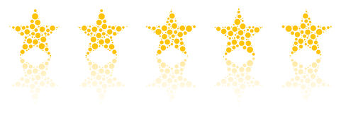 Five Star Product Quality Rating. With Reflection stock illustration