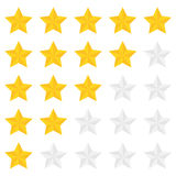 Five star ranking Stock Photo
