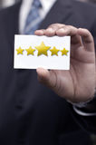 Five star rating Stock Photography