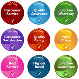 Five Star Rating Buttons Stock Images