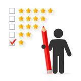 Five star rating concept Stock Images