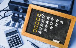 Five star rating concept Royalty Free Stock Images