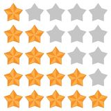 Five star rating. Different ranks royalty free illustration