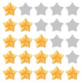 Five star rating. Different ranks stock illustration